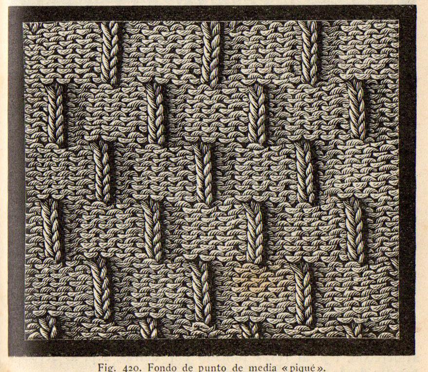 Fondo de punto de media piqu enciclopedia de labores - Labores de punto de lana ...