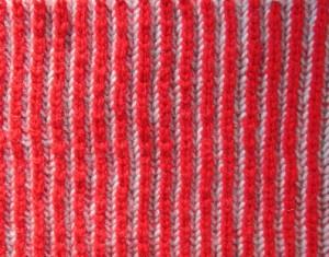 Punto Brioche 2 colores lado 2